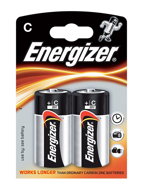 Алкалиновые батарейки Energizer C Base (PLUS) LR14 – 2 шт.