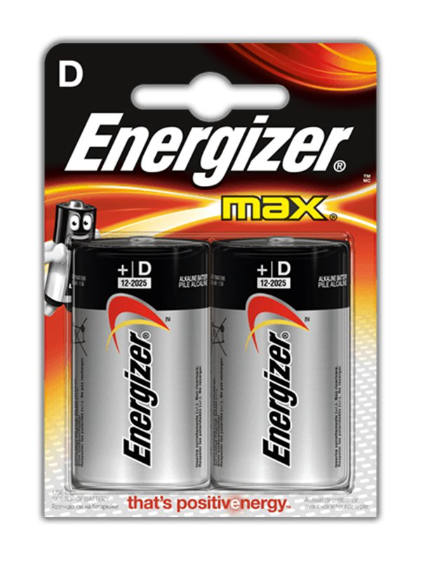 Алкалиновые батарейки Energizer D Base (PLUS, MAX) LR14/E95D – 2 шт.